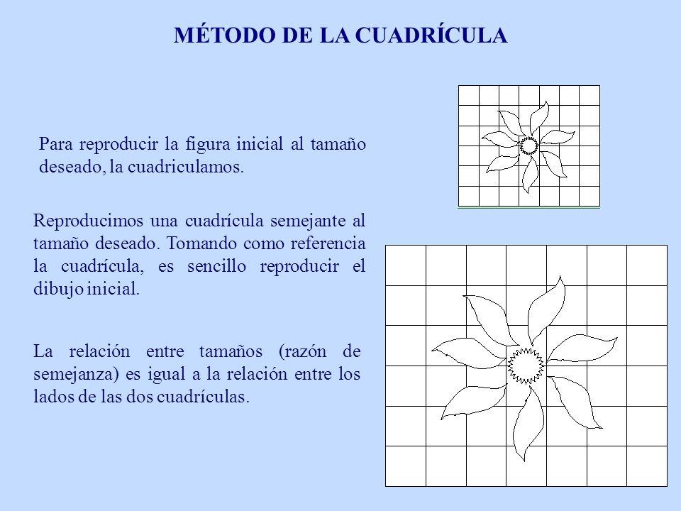 Reproducimos una cuadrícula semejante al tamaño deseado. Tomando como referencia la cuadrícula, es sencillo reproducir el dibujo inicial. La relación