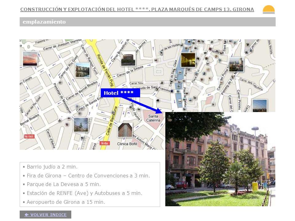 5 emplazamiento Barrio judío a 2 min. Fira de Girona – Centro de Convenciones a 3 min. Parque de La Devesa a 5 min. Estación de RENFE (Ave) y Autobuse