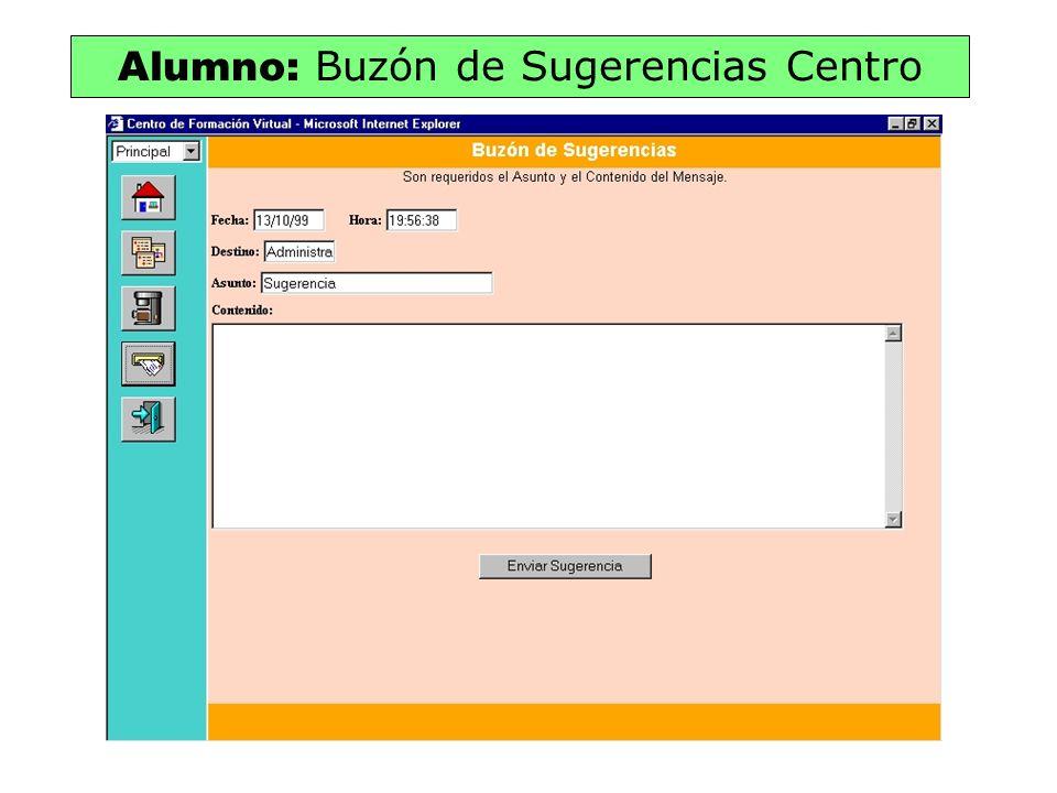 Alumno: Buzón de Sugerencias Centro