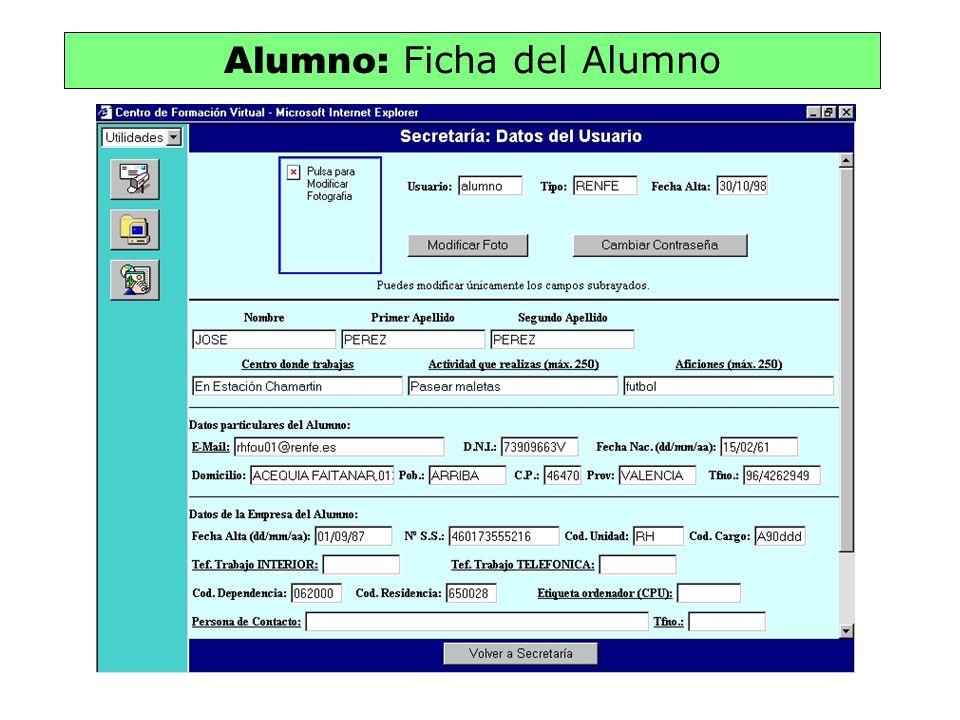 Alumno: Ficha del Alumno