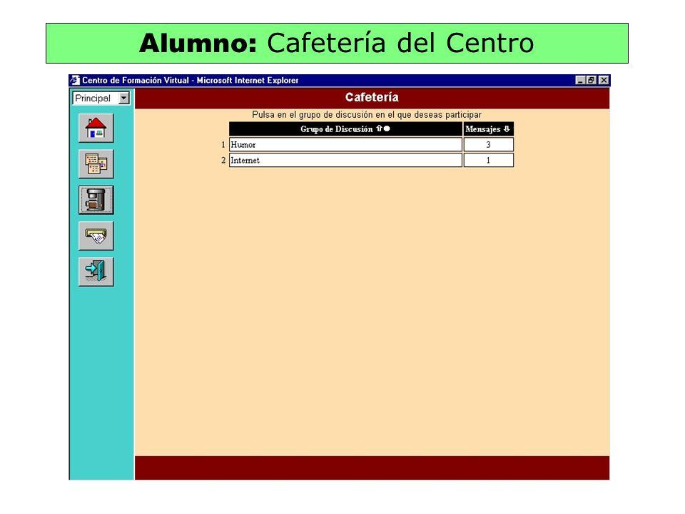 Alumno: Cafetería del Centro
