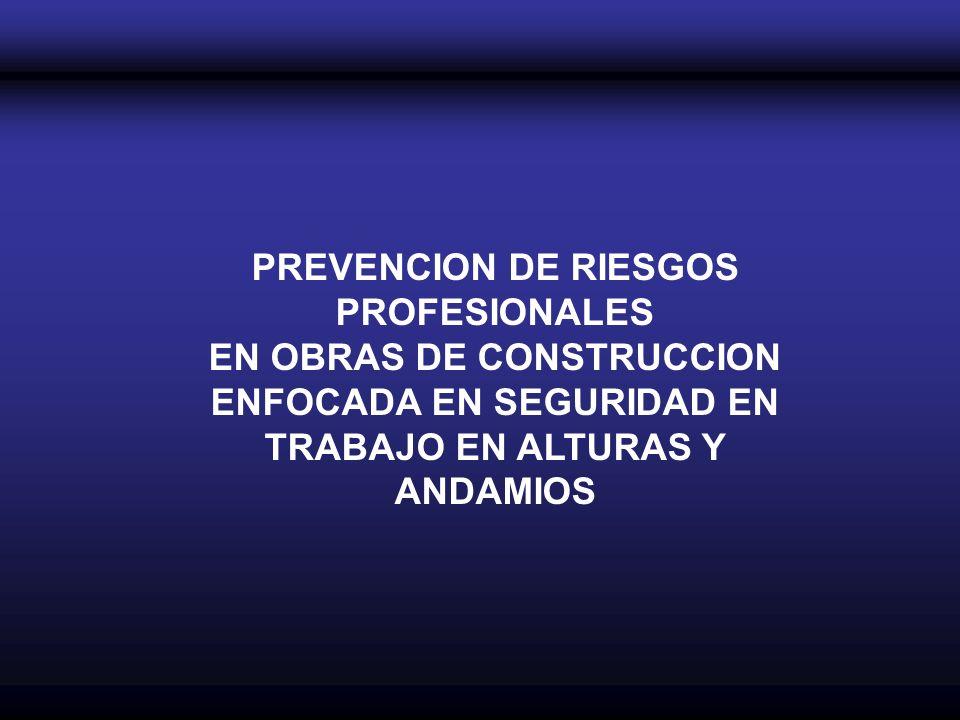 PREVENCION DE RIESGOS PROFESIONALES EN OBRAS DE CONSTRUCCION ENFOCADA EN SEGURIDAD EN TRABAJO EN ALTURAS Y ANDAMIOS
