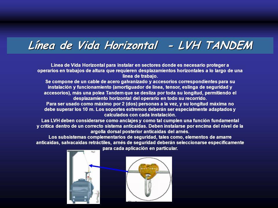 Línea de Vida Horizontal para instalar en sectores donde es necesario proteger a operarios en trabajos de altura que requieren desplazamientos horizon