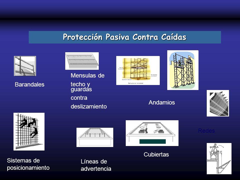Mensulas de techo y guardas contra deslizamiento Barandales Sistemas de posicionamiento Líneas de advertencia Cubiertas Protección Pasiva Contra Caída