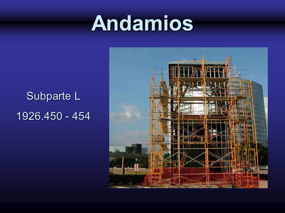 Andamios Subparte L 1926.450 - 454