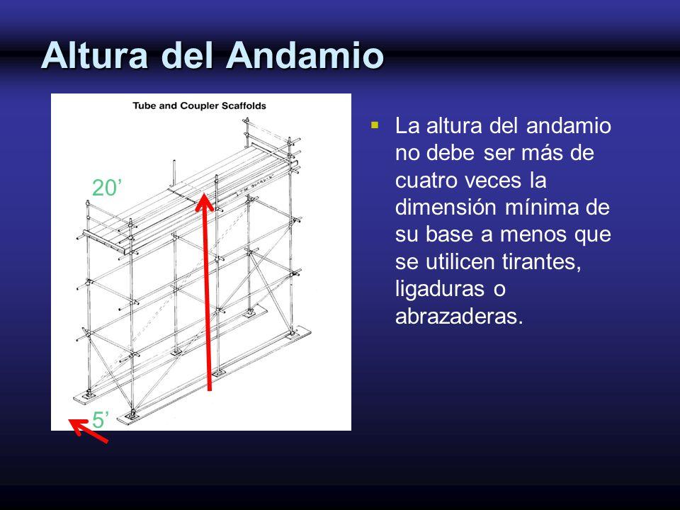 Altura del Andamio 20 5