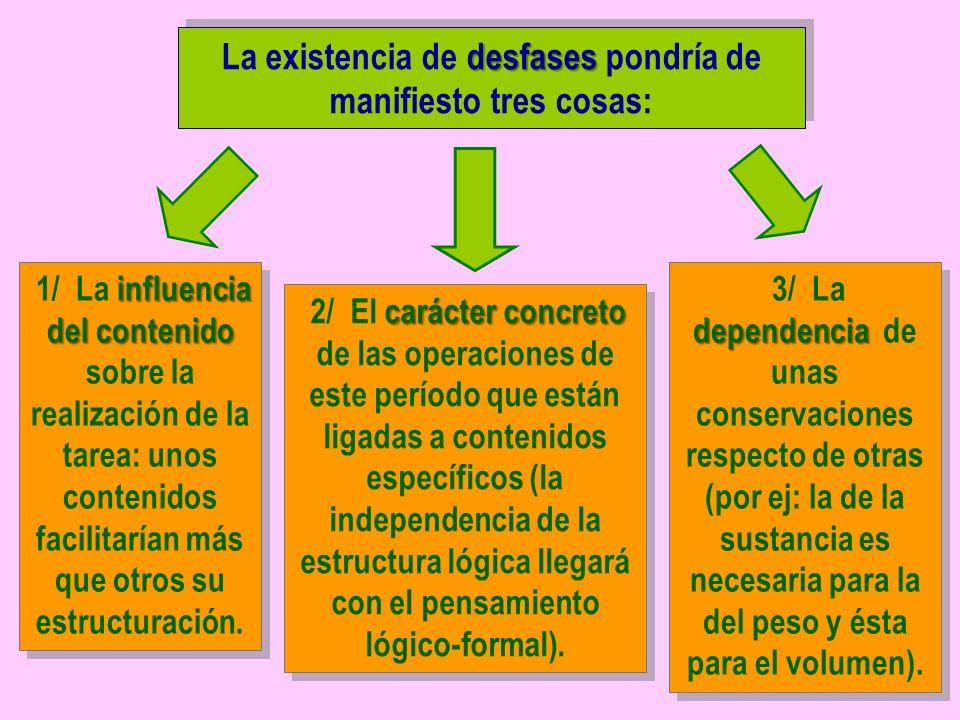 desfases La existencia de desfases pondría de manifiesto tres cosas: influencia del contenido 1/ La influencia del contenido sobre la realización de l