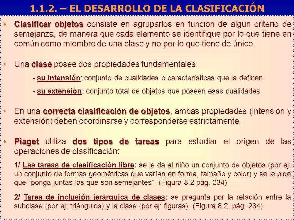 Clasificar objetosClasificar objetos consiste en agruparlos en función de algún criterio de semejanza, de manera que cada elemento se identifique por