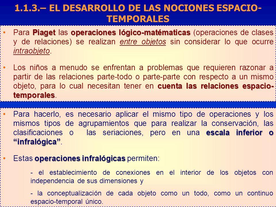 Piagetoperaciones lógico-matématicasPara Piaget las operaciones lógico-matématicas (operaciones de clases y de relaciones) se realizan entre objetos s