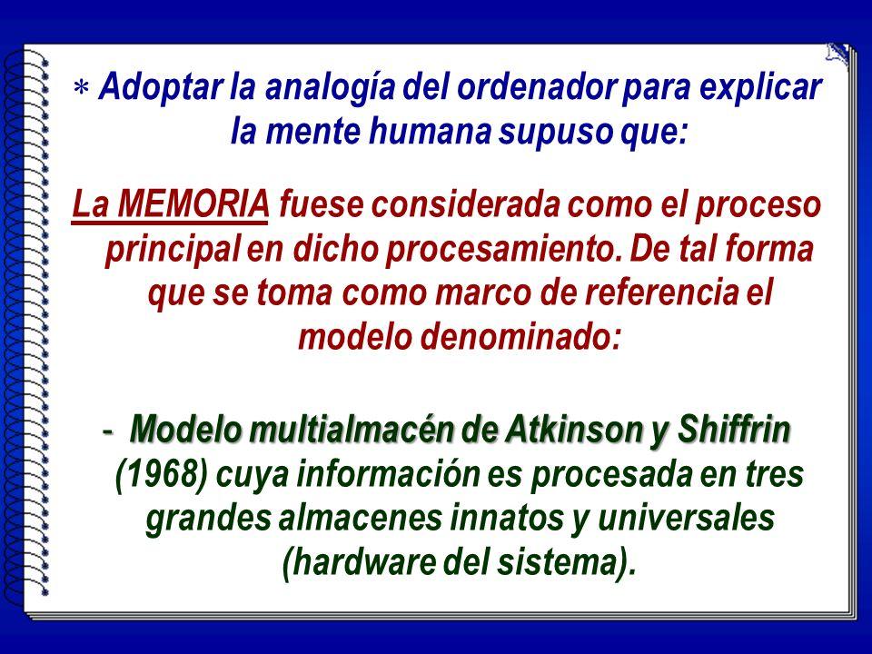 La MEMORIA fuese considerada como el proceso principal en dicho procesamiento. De tal forma que se toma como marco de referencia el modelo denominado: