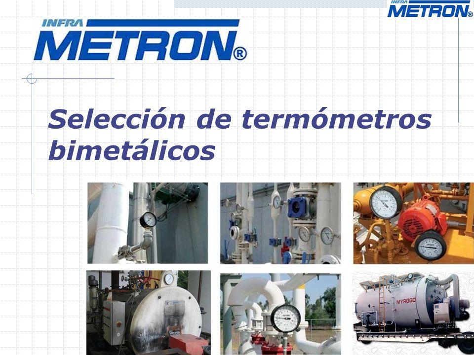 Selección de termómetros bimetálicos