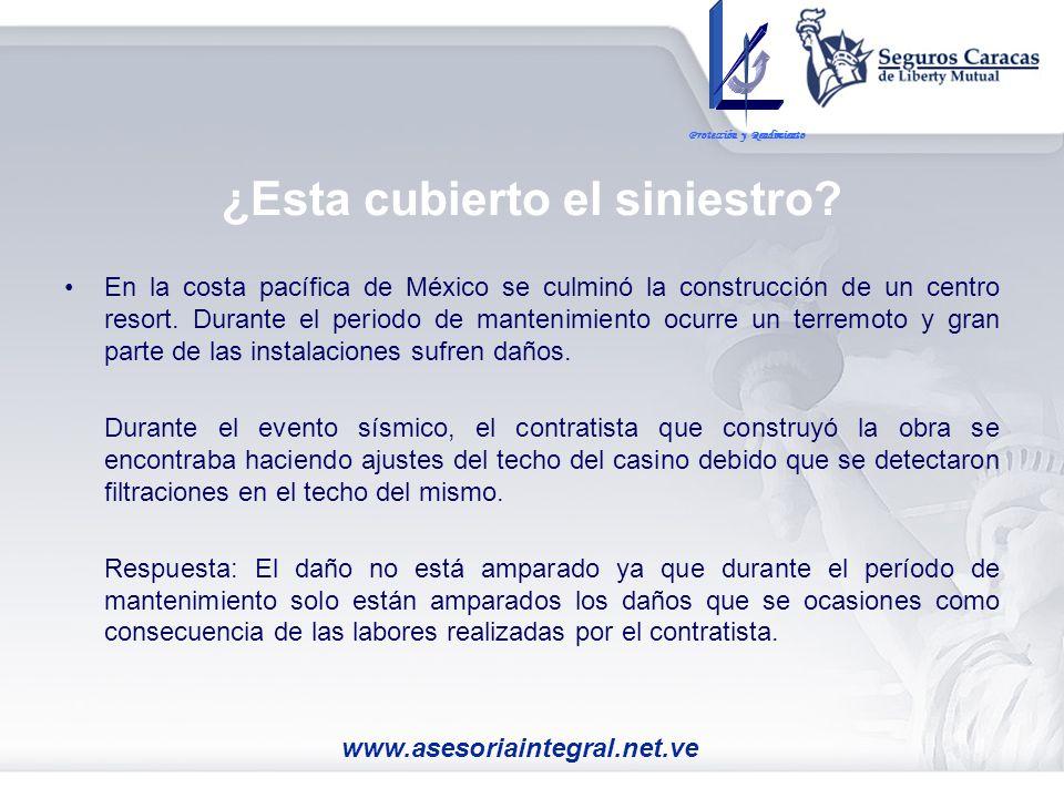 En la costa pacífica de México se culminó la construcción de un centro resort. Durante el periodo de mantenimiento ocurre un terremoto y gran parte de