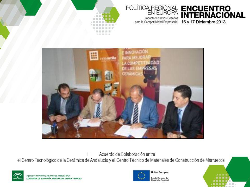Acuerdo de Colaboración entre el Centro Tecnológico de la Cerámica de Andalucía y el Centro Técnico de Materiales de Construcción de Marruecos