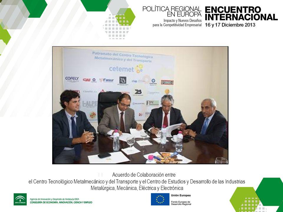 Acuerdo de Colaboración entre el Centro Tecnológico Metalmecánico y del Transporte y el Centro de Estudios y Desarrollo de las Industrias Metalúrgica, Mecánica, Eléctrica y Electrónica