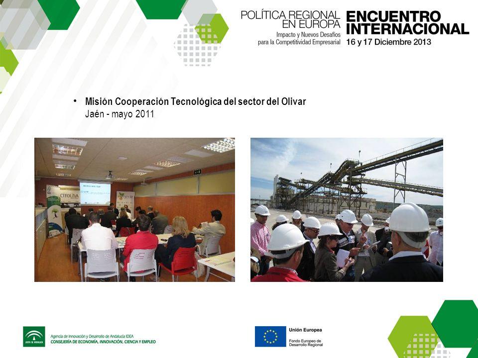 Misión Cooperación Tecnológica del sector del Olivar Jaén - mayo 2011