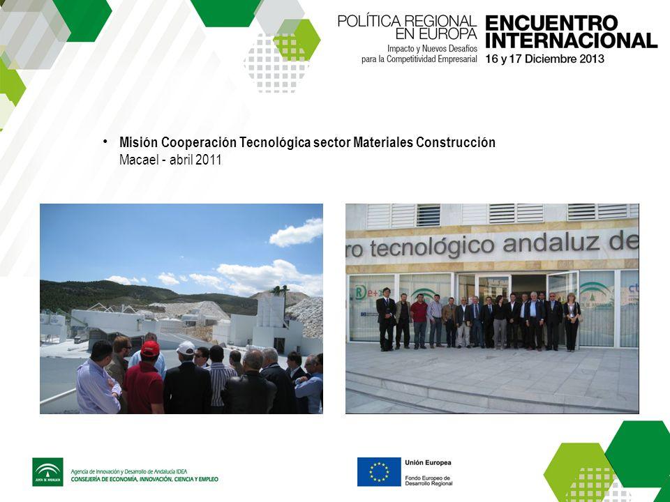 Misión Cooperación Tecnológica sector Materiales Construcción Macael - abril 2011