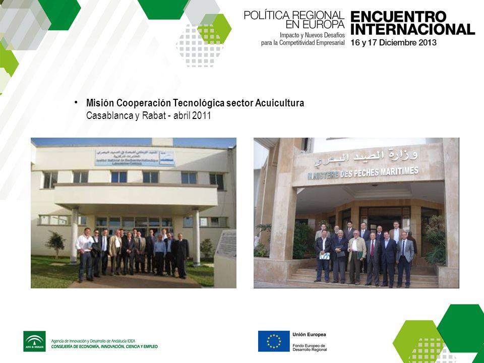 Misión Cooperación Tecnológica sector Acuicultura Casablanca y Rabat - abril 2011
