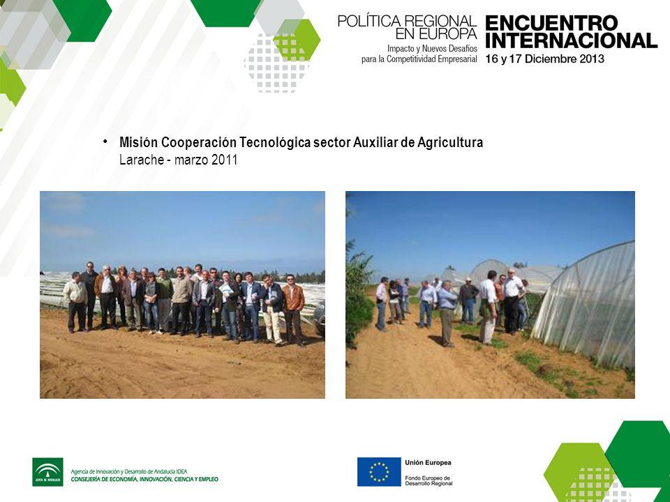 Misión Cooperación Tecnológica sector Auxiliar de Agricultura Larache - marzo 2011
