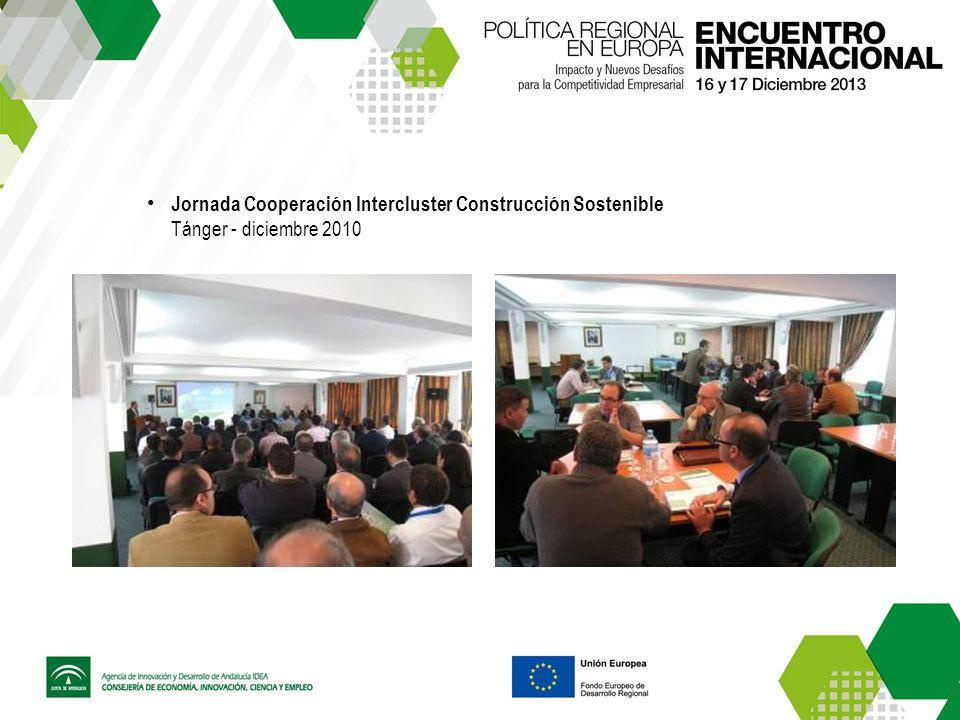 Jornada Cooperación Intercluster Construcción Sostenible Tánger - diciembre 2010