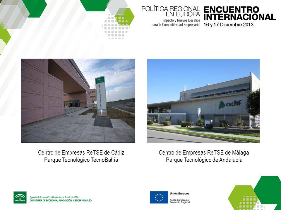 Centro de Empresas ReTSE de Cádiz Parque Tecnológico TecnoBahía Centro de Empresas ReTSE de Málaga Parque Tecnológico de Andalucía