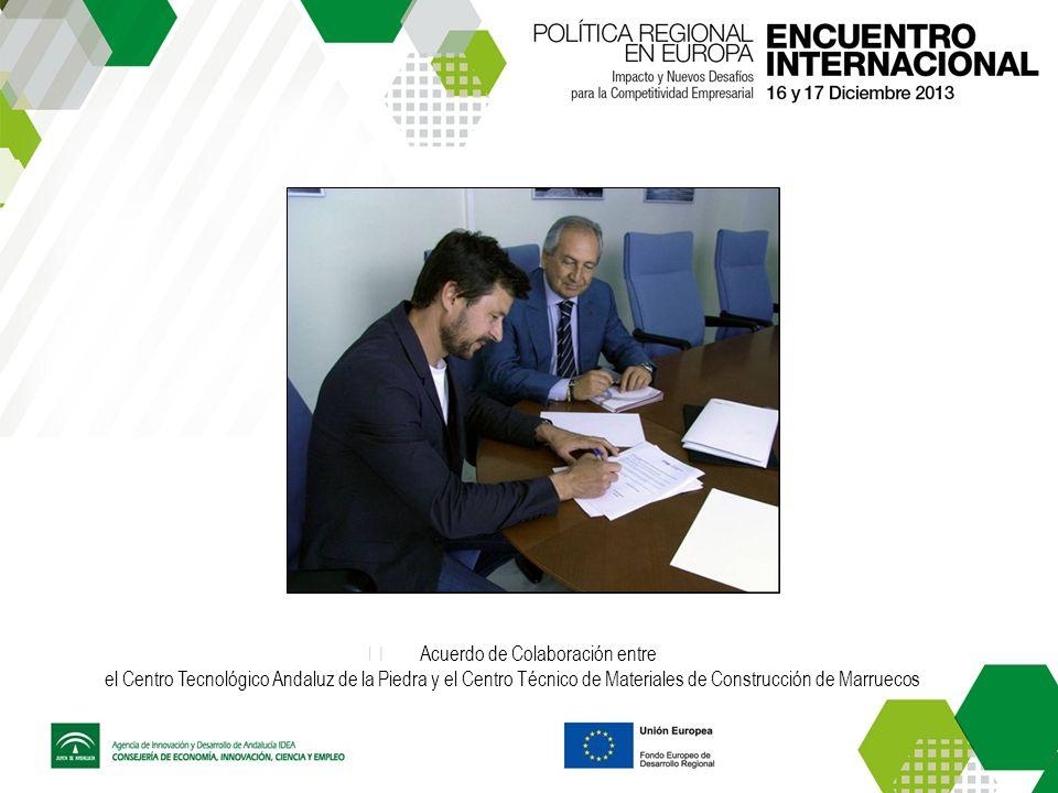 Acuerdo de Colaboración entre el Centro Tecnológico Andaluz de la Piedra y el Centro Técnico de Materiales de Construcción de Marruecos