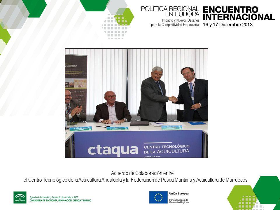 Acuerdo de Colaboración entre el Centro Tecnológico de la Acuicultura Andalucía y la Federación de Pesca Marítima y Acuicultura de Marruecos