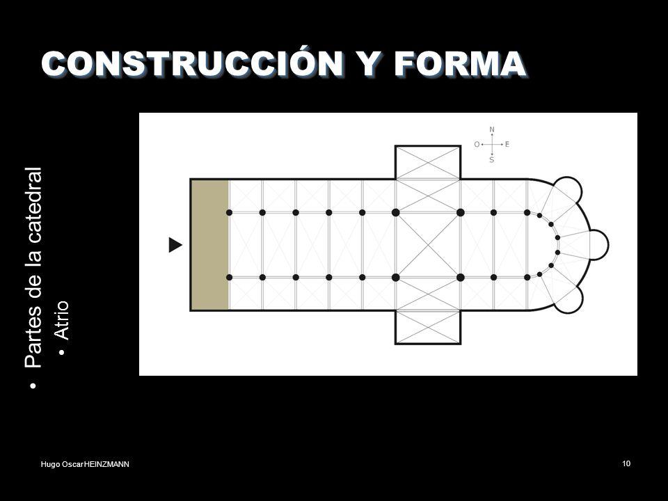 Hugo Oscar HEINZMANN10 CONSTRUCCIÓN Y FORMA Partes de la catedral Atrio