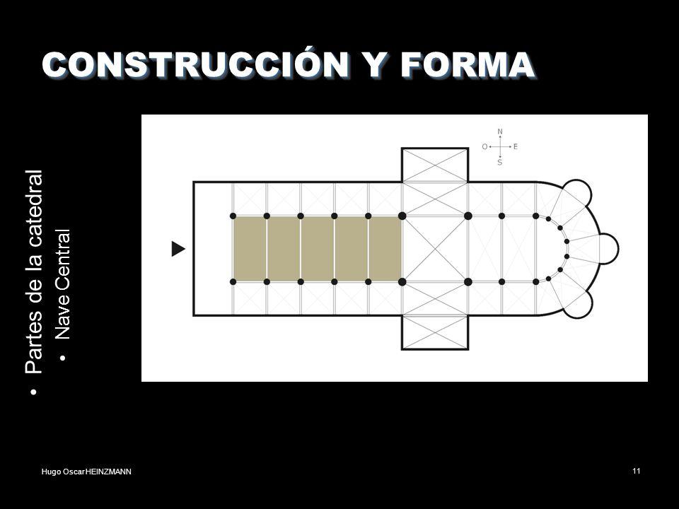 Hugo Oscar HEINZMANN11 CONSTRUCCIÓN Y FORMA Partes de la catedral Nave Central