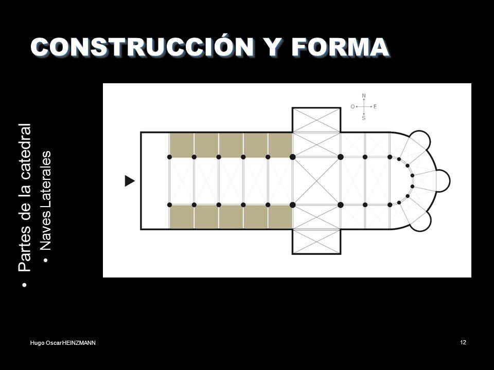 Hugo Oscar HEINZMANN12 CONSTRUCCIÓN Y FORMA Partes de la catedral Naves Laterales