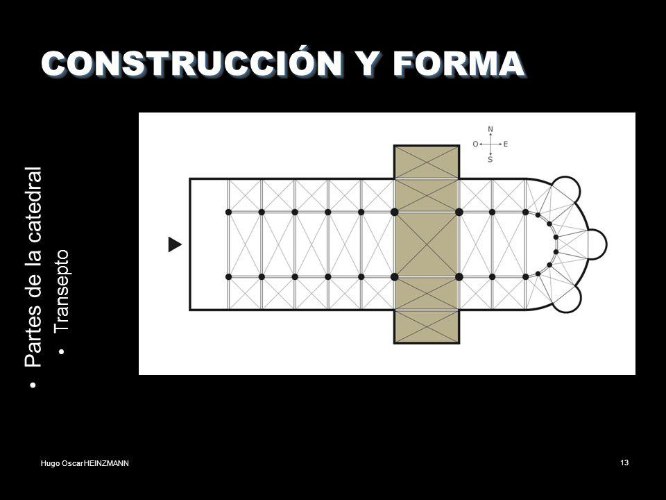 Hugo Oscar HEINZMANN13 CONSTRUCCIÓN Y FORMA Partes de la catedral Transepto
