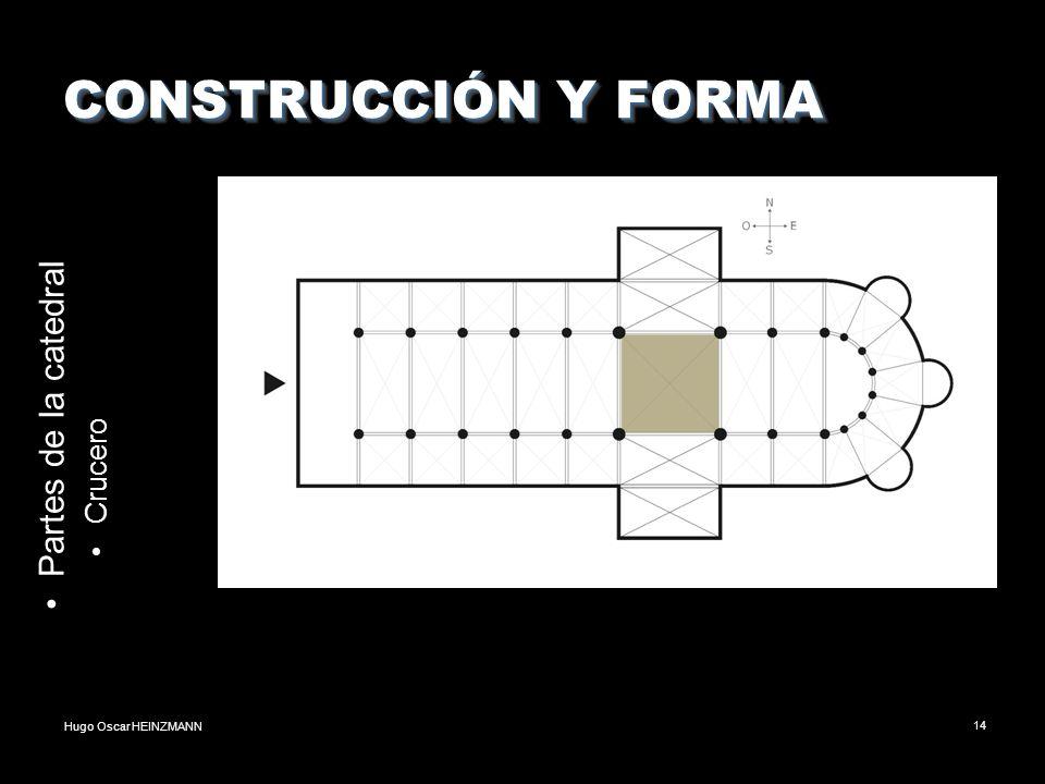 Hugo Oscar HEINZMANN14 CONSTRUCCIÓN Y FORMA Partes de la catedral Crucero