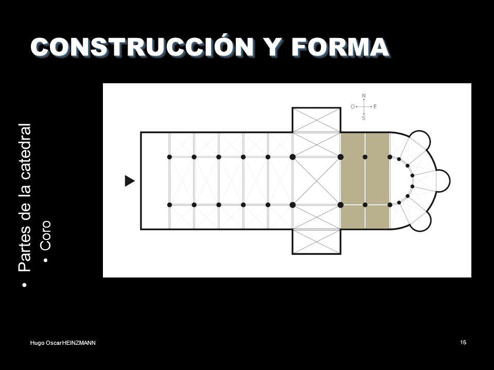 Hugo Oscar HEINZMANN15 CONSTRUCCIÓN Y FORMA Partes de la catedral Coro