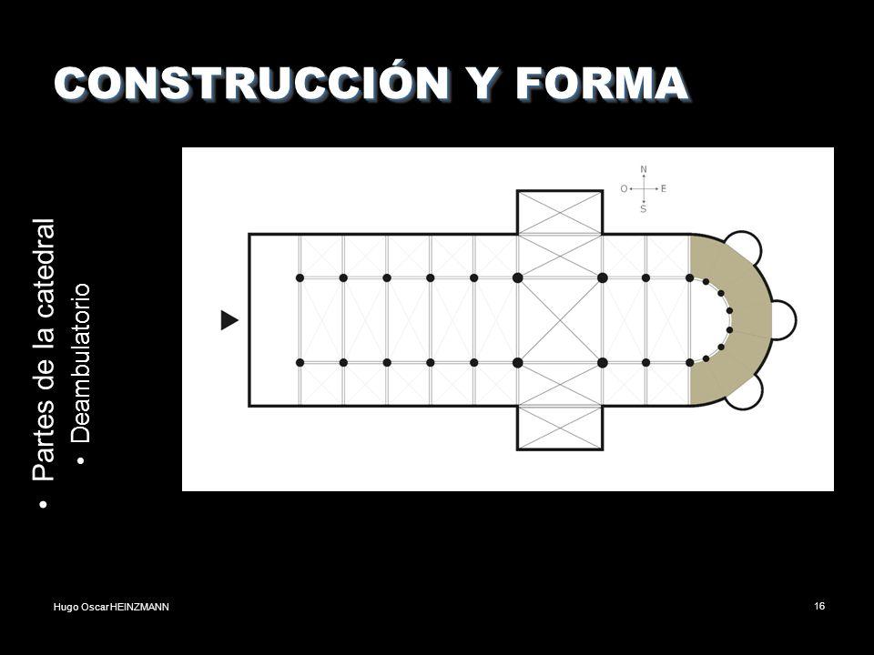Hugo Oscar HEINZMANN16 CONSTRUCCIÓN Y FORMA Partes de la catedral Deambulatorio