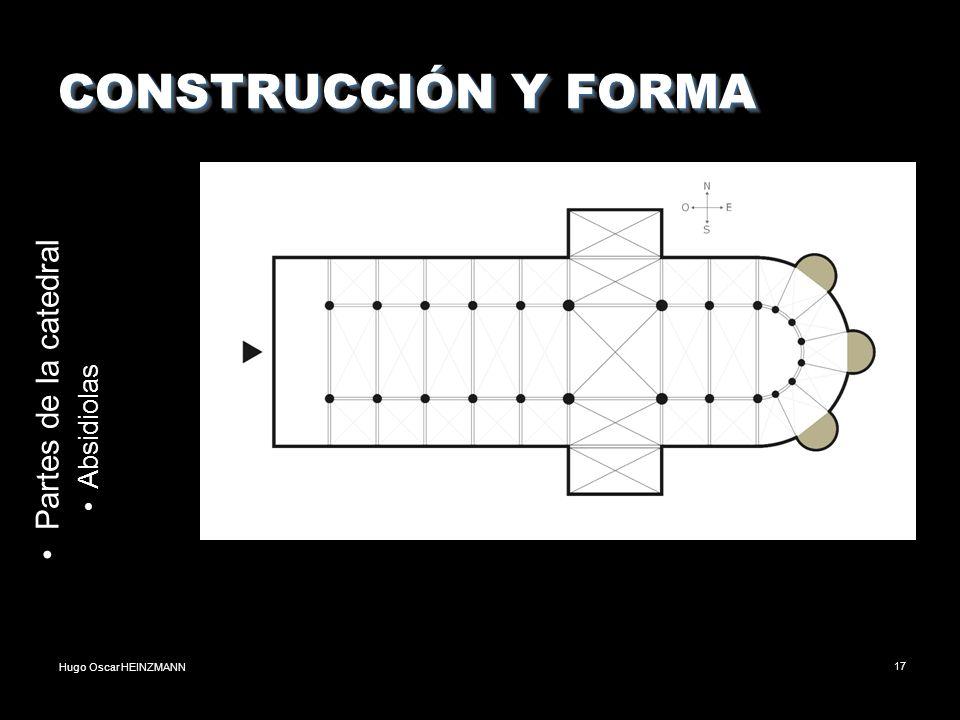 Hugo Oscar HEINZMANN17 CONSTRUCCIÓN Y FORMA Partes de la catedral Absidiolas