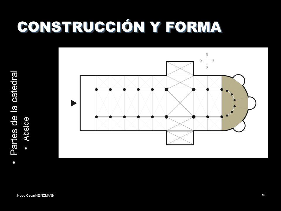 Hugo Oscar HEINZMANN18 CONSTRUCCIÓN Y FORMA Partes de la catedral Abside