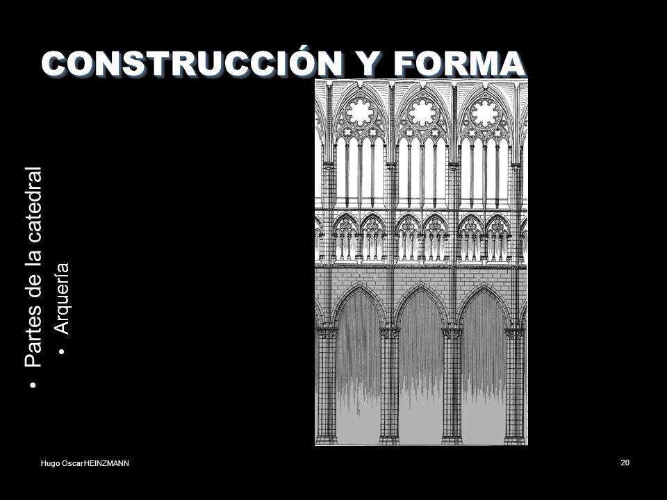 Hugo Oscar HEINZMANN20 CONSTRUCCIÓN Y FORMA Partes de la catedral Arquería