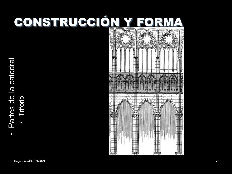 Hugo Oscar HEINZMANN21 CONSTRUCCIÓN Y FORMA Partes de la catedral Triforio
