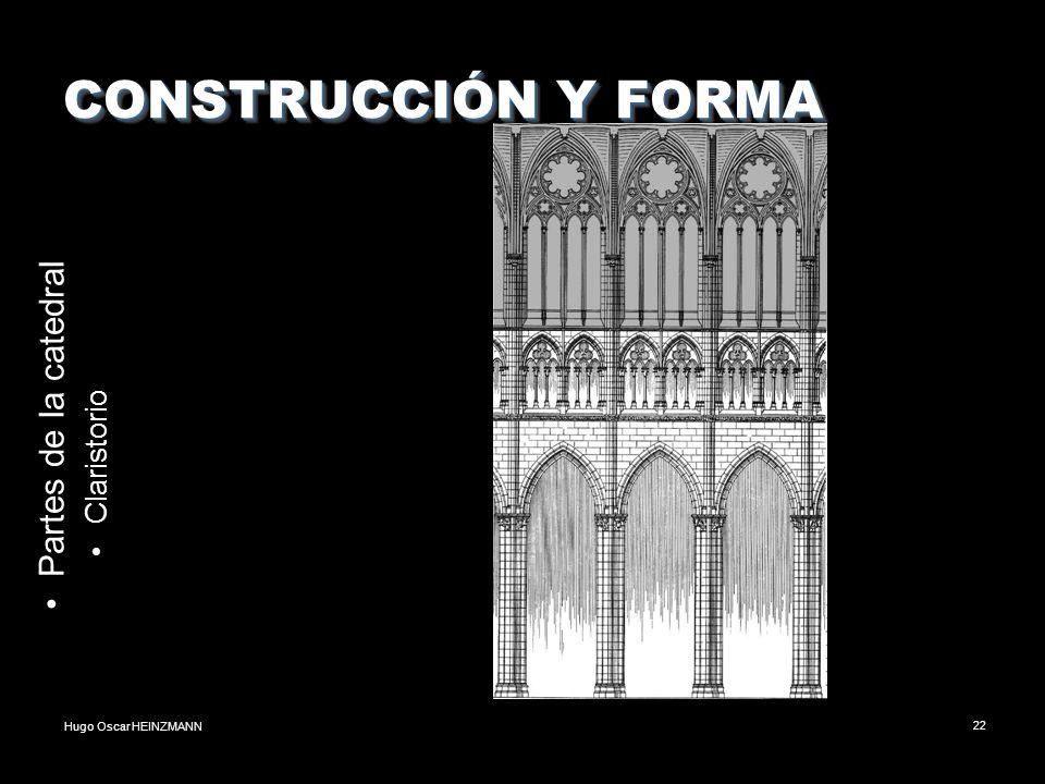 Hugo Oscar HEINZMANN22 CONSTRUCCIÓN Y FORMA Partes de la catedral Claristorio