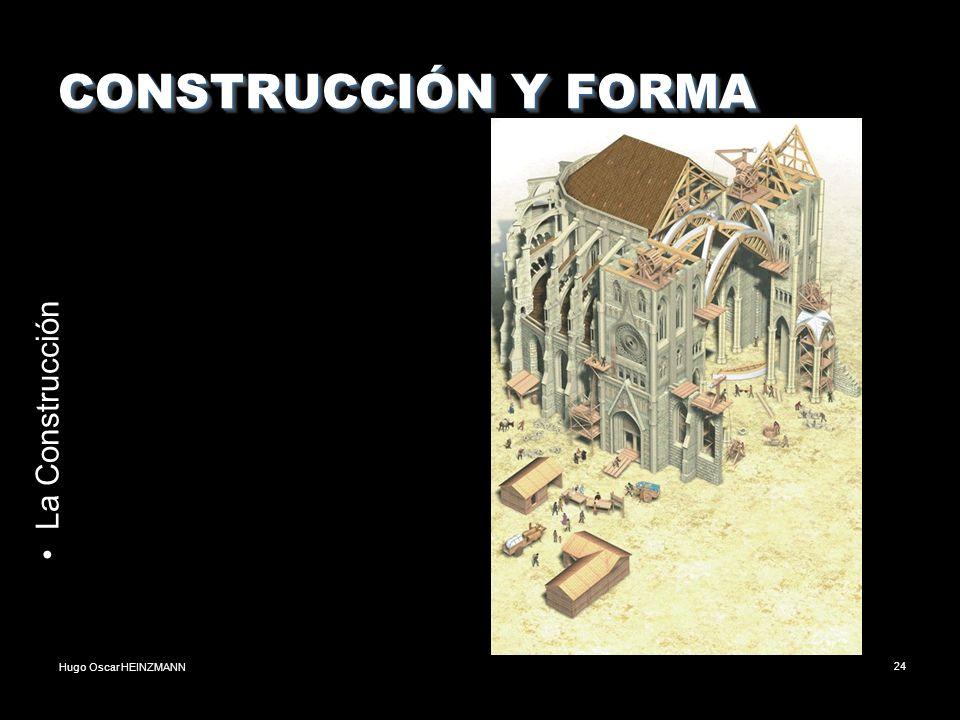 Hugo Oscar HEINZMANN24 CONSTRUCCIÓN Y FORMA La Construcción