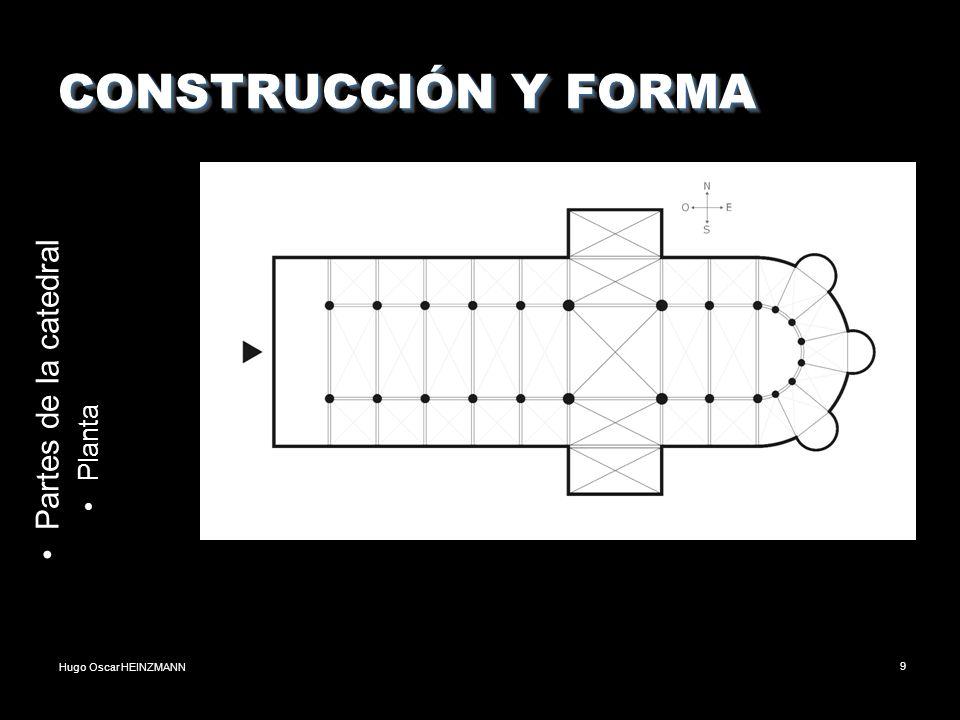 Hugo Oscar HEINZMANN9 CONSTRUCCIÓN Y FORMA Partes de la catedral Planta