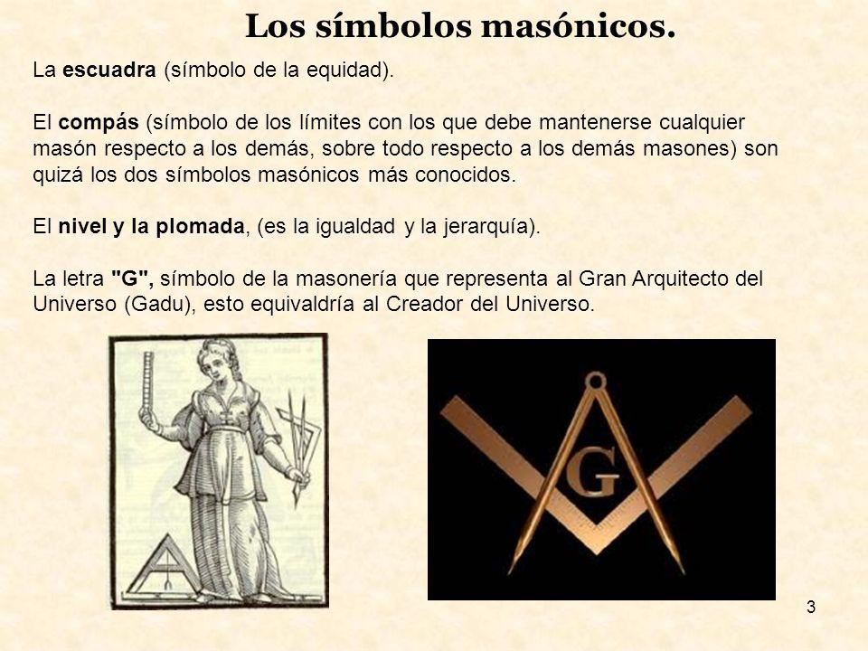 3 Los símbolos masónicos.La escuadra (símbolo de la equidad).
