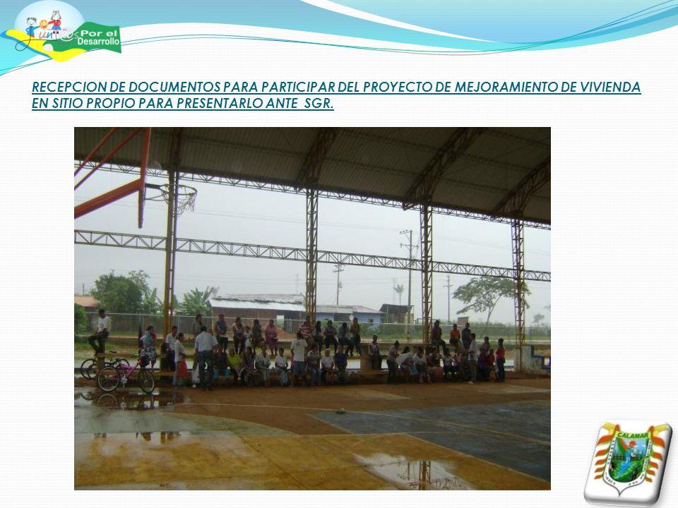 TRABAJOS REALIZADOS EN LAS VIAS TERCIARIAS RURALES DEL MUNICIPIO DE CALAMAR, DURANTE EL PRIMER TRIMESTRE DEL ANO 2013.