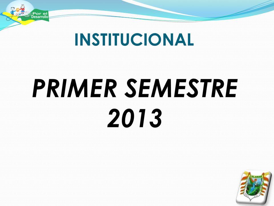 INSTITUCIONAL PRIMER SEMESTRE 2013