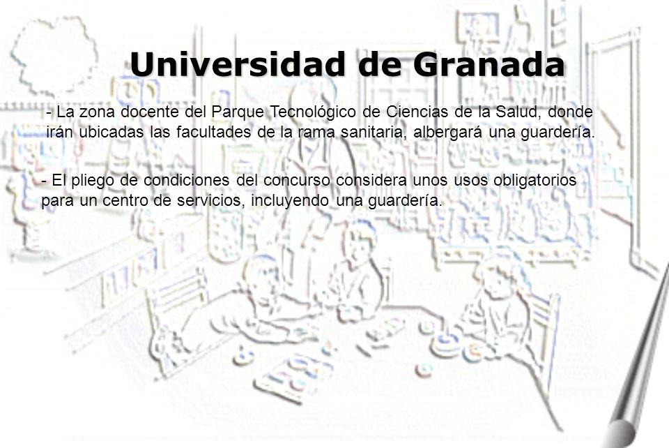 Universidad de Granada - La zona docente del Parque Tecnológico de Ciencias de la Salud, donde irán ubicadas las facultades de la rama sanitaria, albergará una guardería.