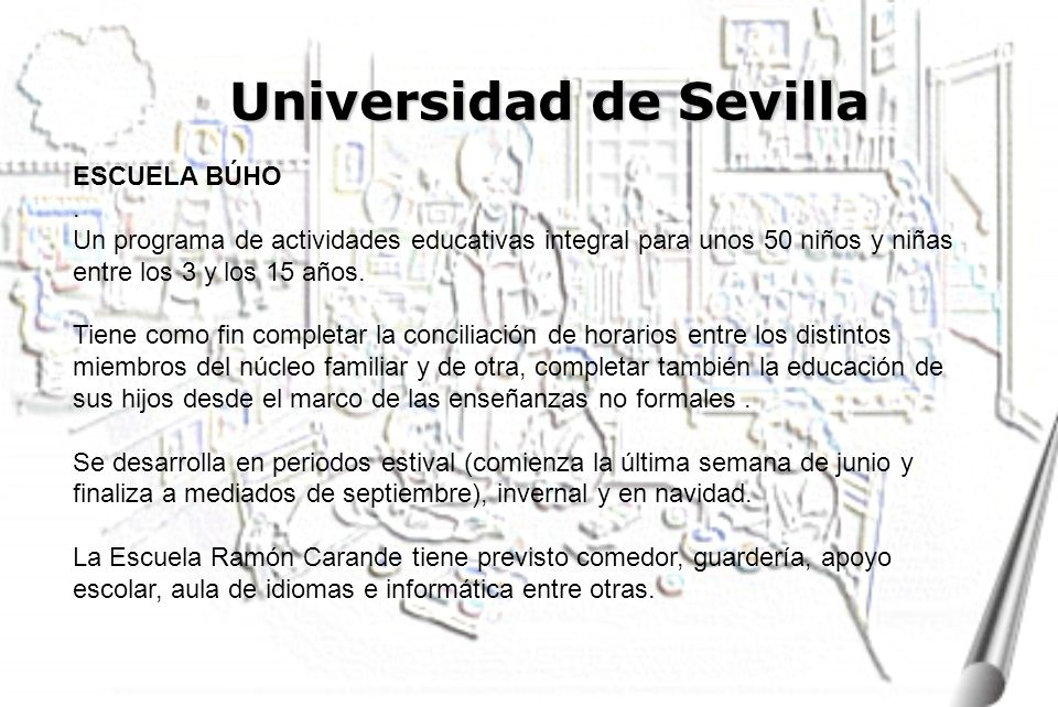 Universidad de Sevilla ESCUELA BÚHO.