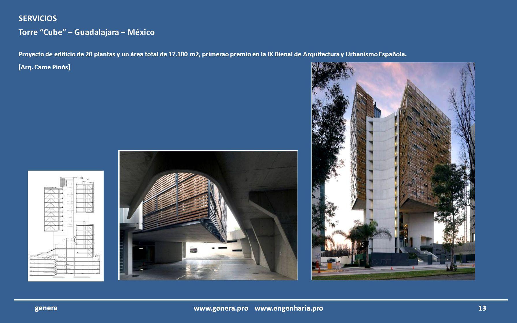 12 genera Edificio TIM – Rio de Janeiro – Brasil Proyecto ejecutivo del edificio de la TIM en Rio de Janeiro, Brasil. SERVICIOS [Arq. Paola Saito] www