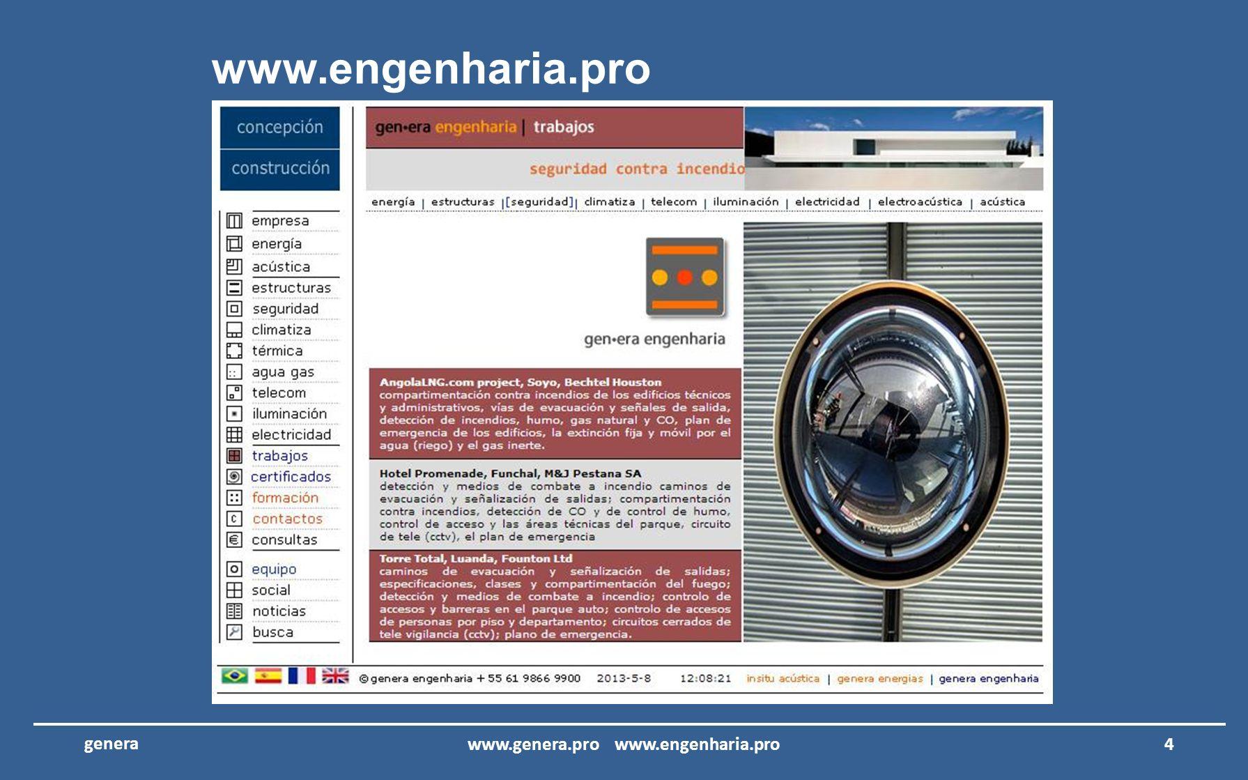 GENERA LTDA – Proyectos de Arquitectura y Ingeniería garantía de la calidad y eficacia www.genera.pro www.engenharia.pro