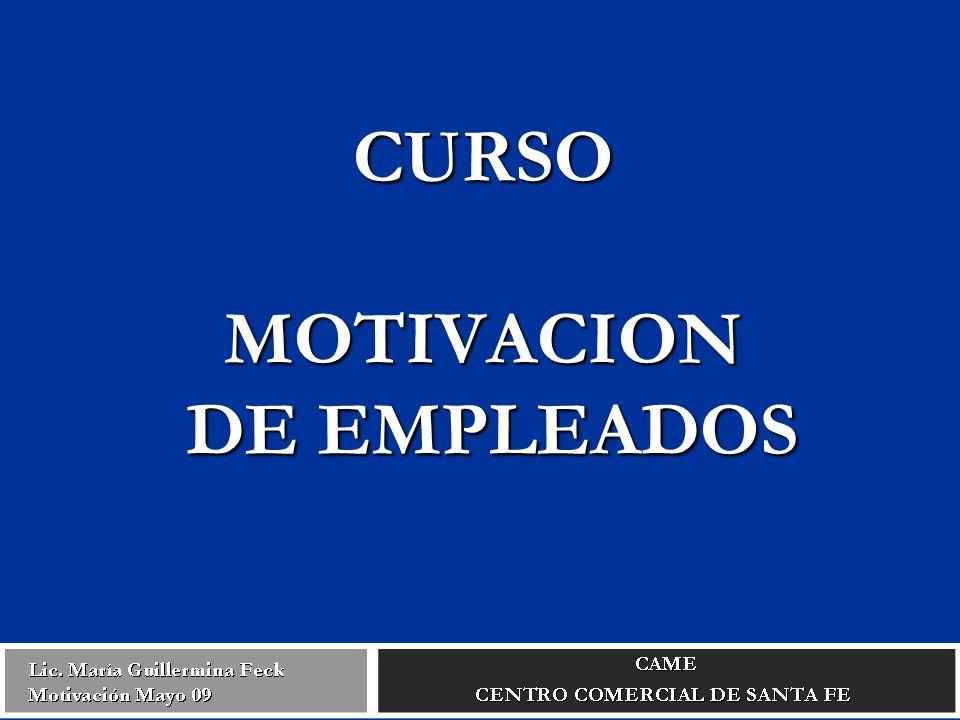 CURSO MOTIVACION DE EMPLEADOS