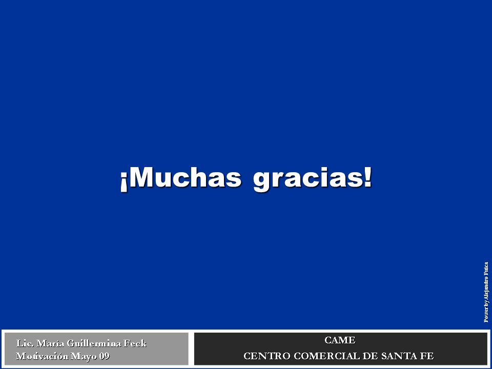 ¡Muchas gracias! Power by Alejandro Fuica