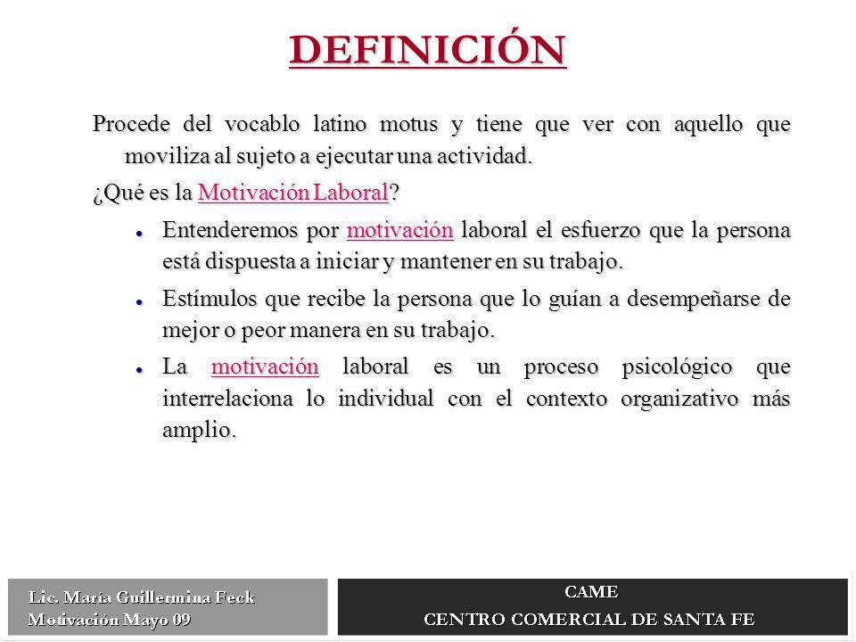 Procede del vocablo latino motus y tiene que ver con aquello que moviliza al sujeto a ejecutar una actividad.